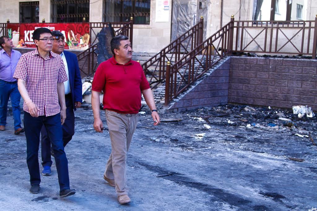 Албек Ибраимов на улице